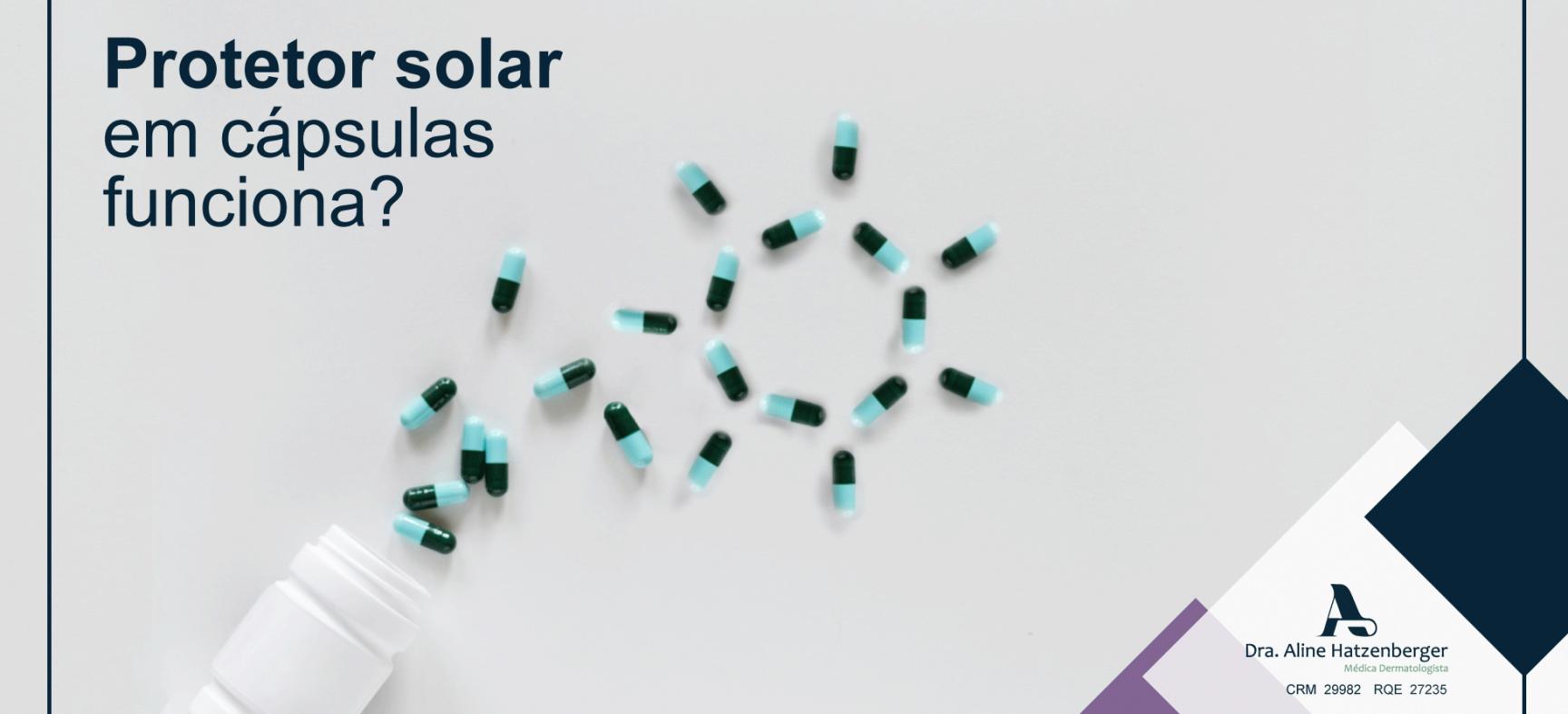 Protetor solar em cápsula é eficaz?